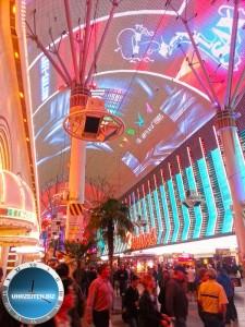 Uhrzeit Las Vegas Fremont Street Experience in Downtown Las Vegas
