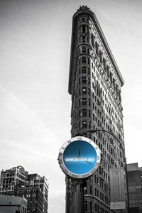 Uhrzeit New York am Flatiron Building