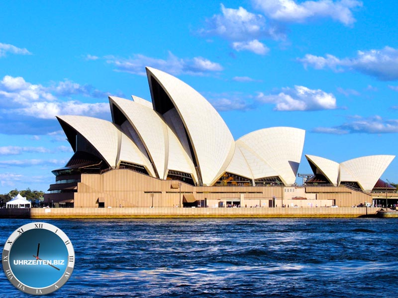 Uhrzeit Sydney am Opera House