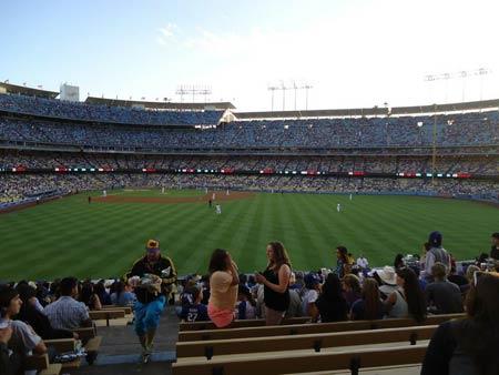 Uhrzeit bei den Los Angeles Dodgers