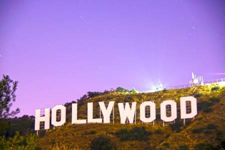 Uhrzeit Los Angeles / Kalifornien in den Hollywood Hills