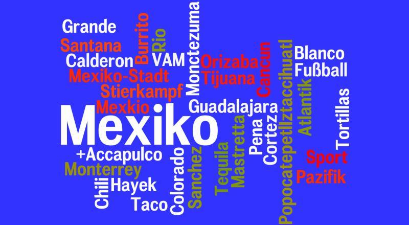 Uhrzeit Mexiko in Worten