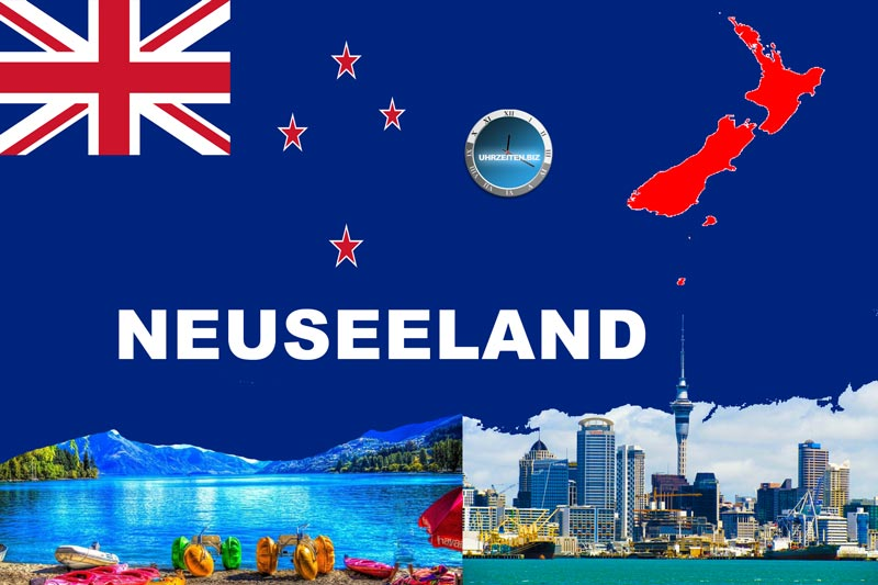 Uhrzeit in Neuseeland - Ozeanien