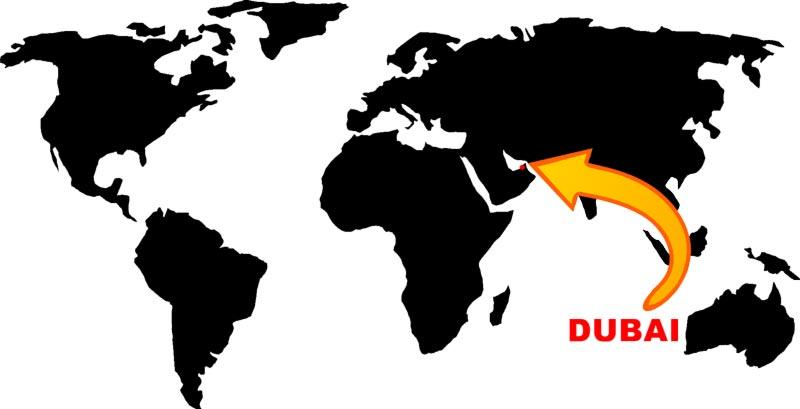 Wo liegt Dubai?