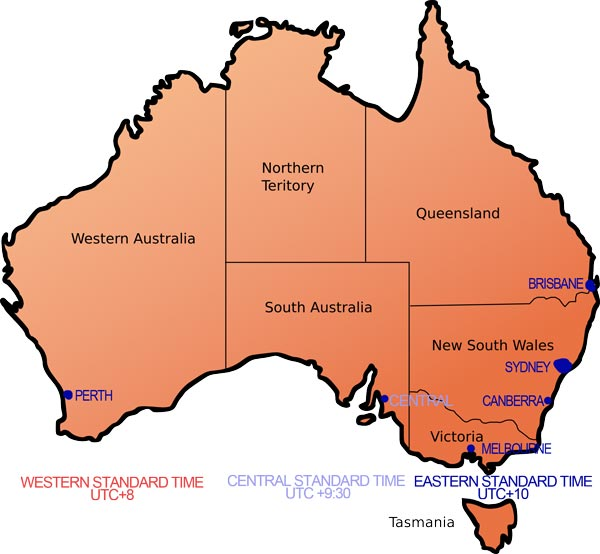 Brisbane Australien Uhrzeit