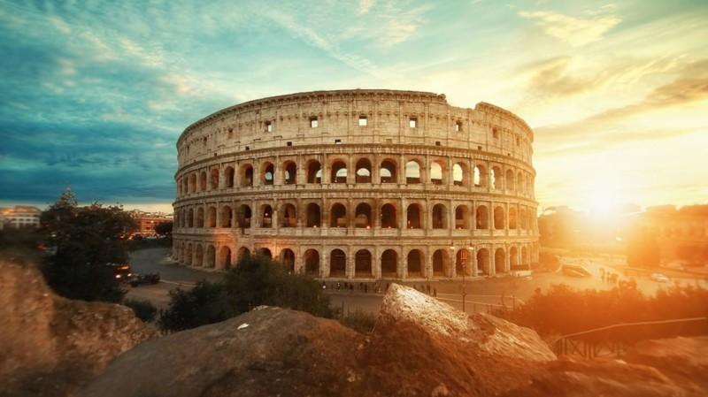 Gute Zeit in Rom Kolosseum