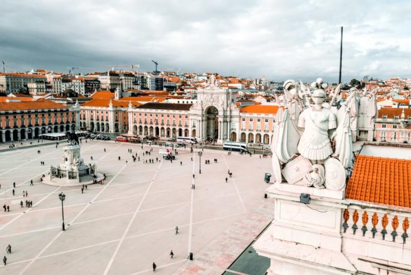 Portugal Zeit in Lissabon
