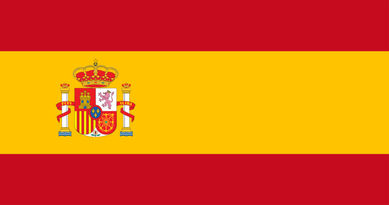 Uhrzeit Spanien Flagge