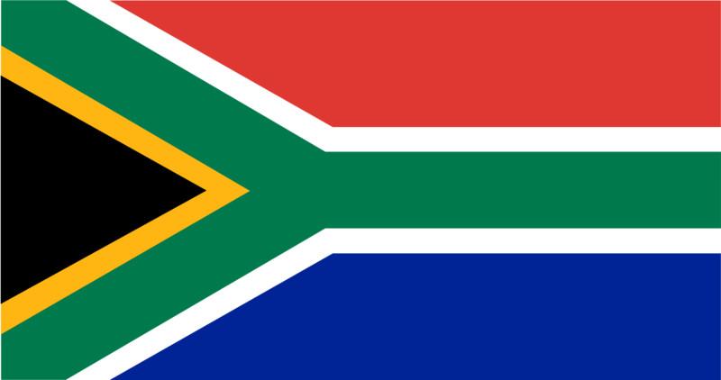 Uhrzeit Südafrika Flagge