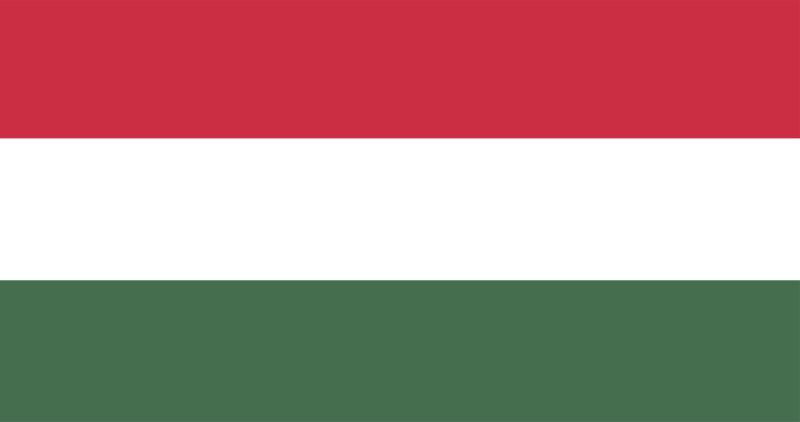 Ungarn Uhrzeit Flagge