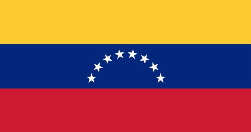 Uhrzeit Venezuela Flagge