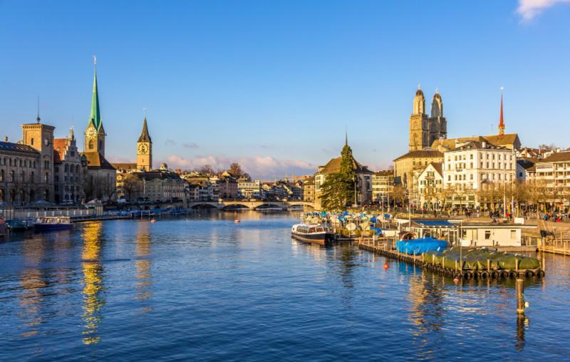 Gute Zeit in Zürich in der Schweiz